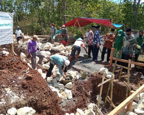 Peletakkan Batu Pertama Pembangunan Masjid Pondok Pesantren Vokasi Tahfidzul Qur'an Muhammadiyah Darul Mujahidin Karangmojo